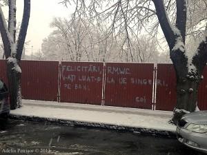 Un graffiti din Primăverii